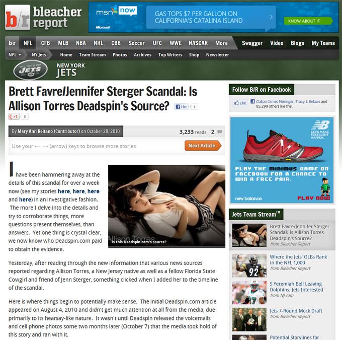 Brett Favre Sexting Scandal