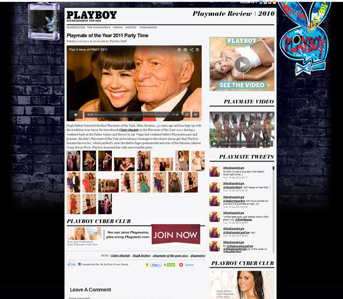 Playmate of the Year 2010 Microsite