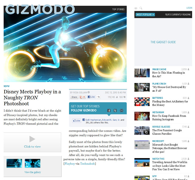 Game On: Playboy's Tribute to Tron
